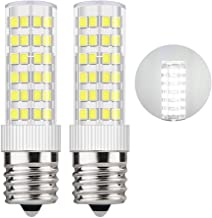 DiCUNO E17 LED Bulb 5 Watt Appliance Bulb Microwave Oven Light 6000K Daylight White, 550lm, 50W Halogen Equivalent Non-dimmable (2-Pack)
