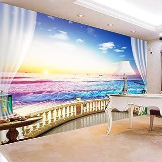 hhlwl Custom 3D Wallpaper Modern Sunrise Landscape of Seaside Living Room Sofa Background Personality Mural Wallpaper-400c...