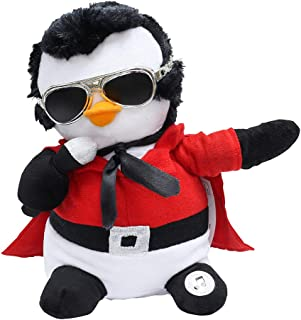 Elvis Animated and Musical Figure - Santa Claus is Back in Town Penguin - Red