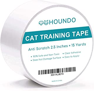 HOUNDO Cat Training Tape, Anti-Scratch Cat Deterrent Tape - Quickly Stop and Prevent Cat from Scratching Furniture, Couch, Carpet, Chair, Sofa, Rug, and Door