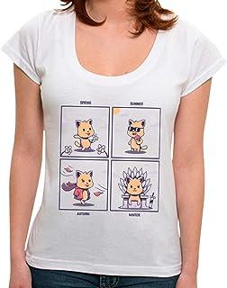 Camiseta Cat Seasons - Feminina