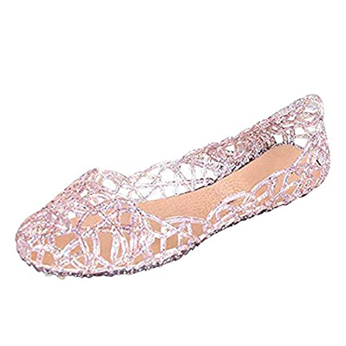 40cb949ebaec Jelly Ballet Flat Shoes Summer Women s Slip On Jelly Sandals