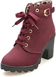 Best women's lace up platform boots Reviews