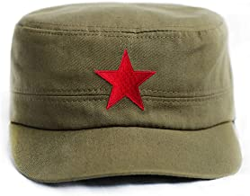 Che Guevara Store Military Hat Army Green Adjustable Embroidered Red Star