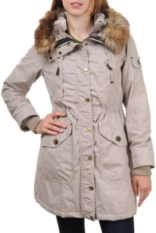 1 Madison Ladies' Anorak Jacket W  Detachable Hood, New Stone, Small