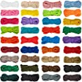 36 Pieces 10 Feet Paracord Cord 550 Multifunction Paracord Ropes Paracord Bracelet Crafting Making Rope Kit for Lanyards Keychain Dog Collar Woven DIY Manual Braiding Supplies, 36 Solid Color