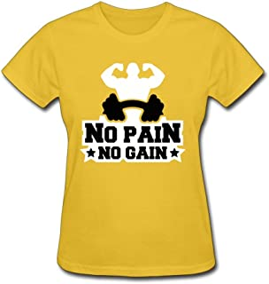 No Pain No Gain Logo Woman Style Short Sleeve Normal Fit Tees