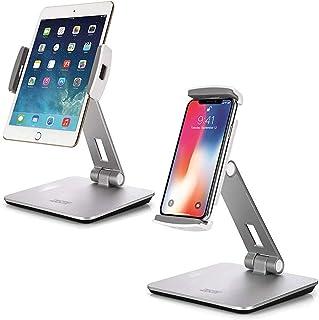 Technomounts Tablet Stand Holder, Desktop Adjustable 360° Swivel Rotating Phone Stand for iPad Pro, Ipad Air, Samsung Gala...