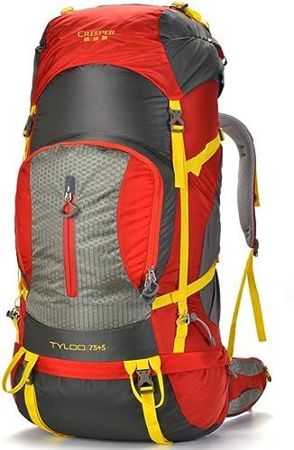 Backpack éclairage extérieur d'escalade Sac Sac de Voyage épaules 80L Tactique extérieur Camping Randonnée rouge 80L
