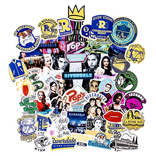 Conquest Journals Riverdale Vinyl Stickers - Archie, Betty, Veronica, Jughead and More, Set of 50, Waterproof and Scratch Resistant, Great for All Your Gadgets