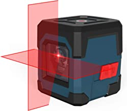 Kreuzlinienlaser, RockSeed Selbstnivellierend Linienlaser 15M ± 0,2 mm/m, 360° Umschaltbar Vertikale/Horizontale Roter Laser IP54 Staub & Wasserschutz inkl. 2AA Batterien & Schutztasche - LV1