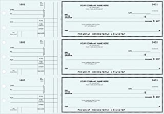 General Manual Business Checks, 3 to a Page Blue Multipurpose Checks, 250 Single Checks