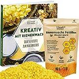 Lisati Bienenwachs Pastillen - 100% Natürlich, Ecocert Zertifiziert - 100g, 200g, 500g + ebook mit Rezepten, Kosmetik, Kerzen, Bienenwachstücher, Holz-, Möbel-, Lederpflege