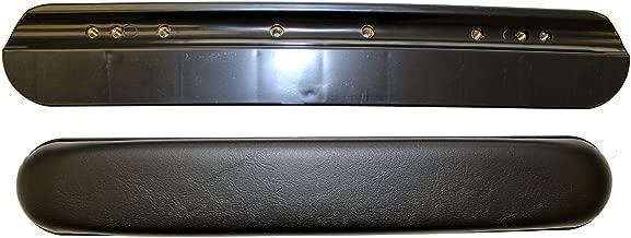 AR051PA One Pair of Black Vinyl Full Length Padded Wheelchair Armrests, Universal Fit