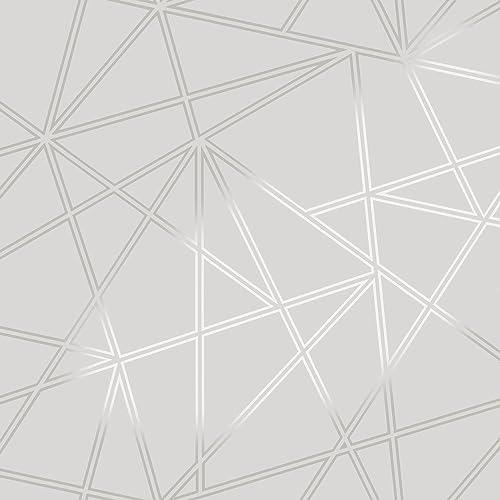 3D Apex Geometric Wallpaper Triangle Metallic Luxury Paladium Holden Decor