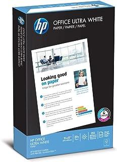HP Printer Paper, Office20 Paper, 11x17, Ledger Size, 20lb, 92 Bright, 1 Ream / 500 Sheets (172000R) Acid Free Paper (Renewed)