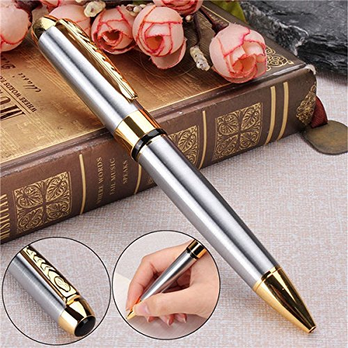 Tutoy Jinhao 250 Ballpoint Pen Gold and Silver Clip Twist Black Ink Ball Point Pen