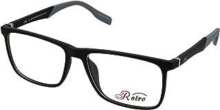 RETRO Unisex-adult Spectacle Frames Rectangular 3016 M.Black/Grey