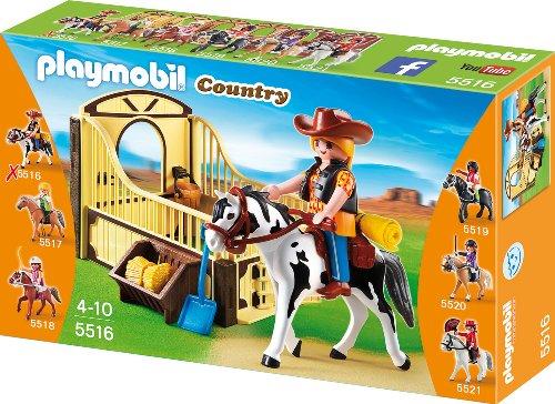 Playmobil 5516 - Tinker mit braun-gelber Pferdebox