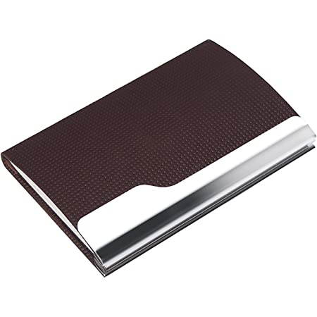 Rts Imported Quality Steel Credit Card Holder Business Card Wallet ATM Card Case for Men & Women Brown