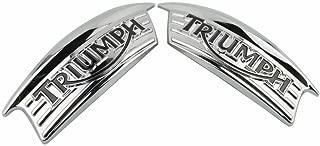 Motorcycle 2PCS 3D Chrome Tank Emblem Badge Sticker decals For Triumph Bonneville Thruxton 2001-2010 Triumph Bonneville T100 2004-2014 Triumph Thruxton 900