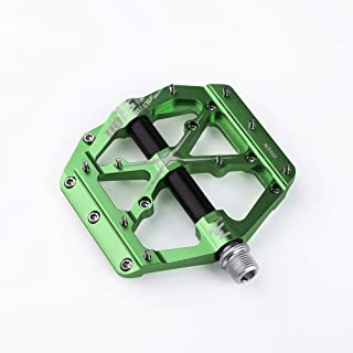 "Alston 3 Bearings Mountain Bike Pedals Platform Bicycle Flat Alloy Pedals 9/16"" Pedals Non-Slip Alloy Flat Pedals"