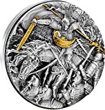 Power Coin Zhao Yun In The Battle of Changban 2 Oz Moneda Plata 10000 Cfa Francos Cameroon 2021
