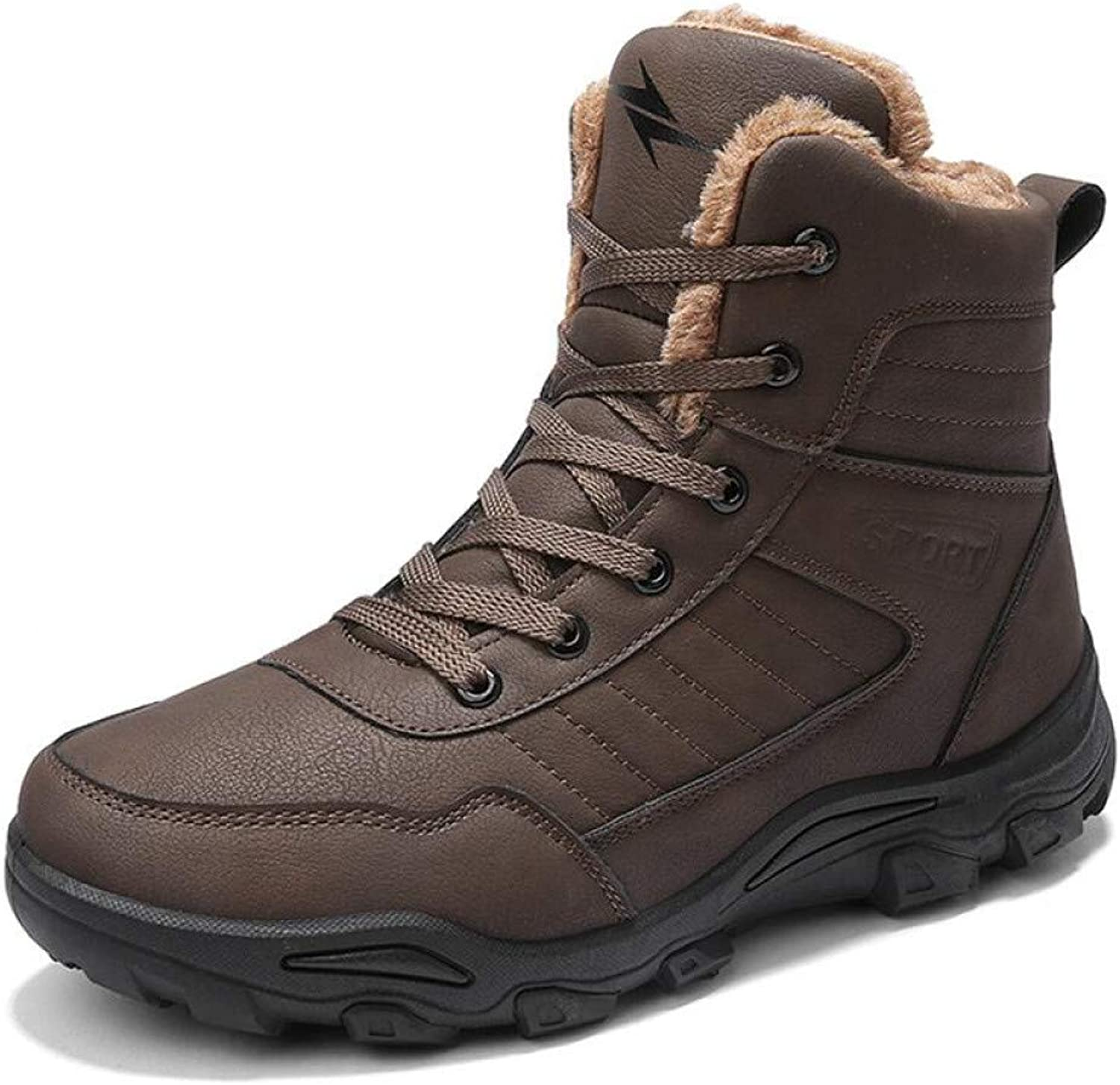 FHCGMX Men Boots Winter With Warm Snow Boots Men Winter Boots Work shoes Men Footwear Fashion Rubber Ankle Boots 39-46