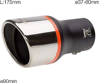 Coperchio scala marmitta scudo termico tubo di scarico moto universale Keenso acciaio nero//argento opzionale Argento