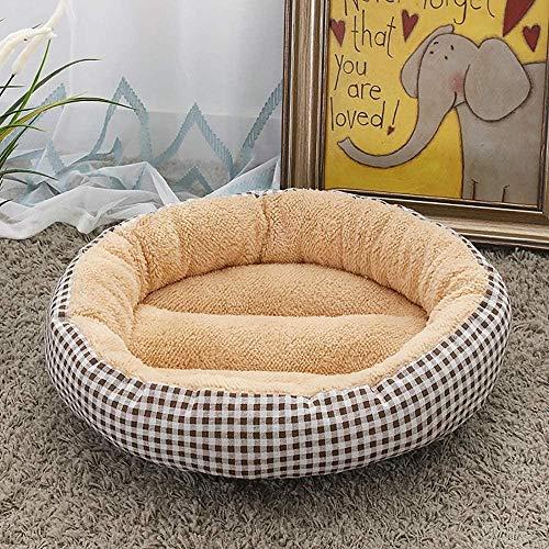 BACKZY MXJP Perrera Suministros para Mascotas Beige/Gris Cuadrado Moda Perrera Arena para Gatos Pequeño Perro Mediano Almohadilla para Perros 50 * 50 * 14 Cm