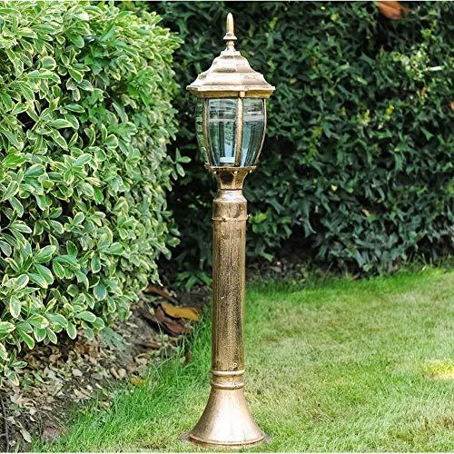 HLR Paalverlichting voor buiten, waterdichte straatlantaarn 1-light outdoor vloerlamp zuil palen lichten E27 landschap Villa Park Decoratie verlichting gazon-tuinlampen