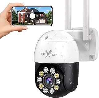 TRIXTER 2K Cámara De Seguridad Exterior 4Mpx WiFi Inalambrica FHD 1440P, PTZ Cámara de Vigilancia Impermeable IP66, Cámara...