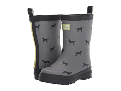 Hatley Kids Lots of Labs Rain Boots (Toddler/Little Kid) (Grey) Boy
