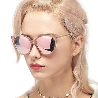 Myiaur Fashion Cat Eye Mirror Sunglasses Women Polarized UV Protection Stylish Design