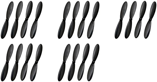 5 x Quantity of Ei-Hi Alien Bug S80C H107D+-02 Plus Propeller Blade Set All noir Props Propellers Blades Quadcopter Parts - FAST Libre SHIPPING FROM Orlando, Florida USA