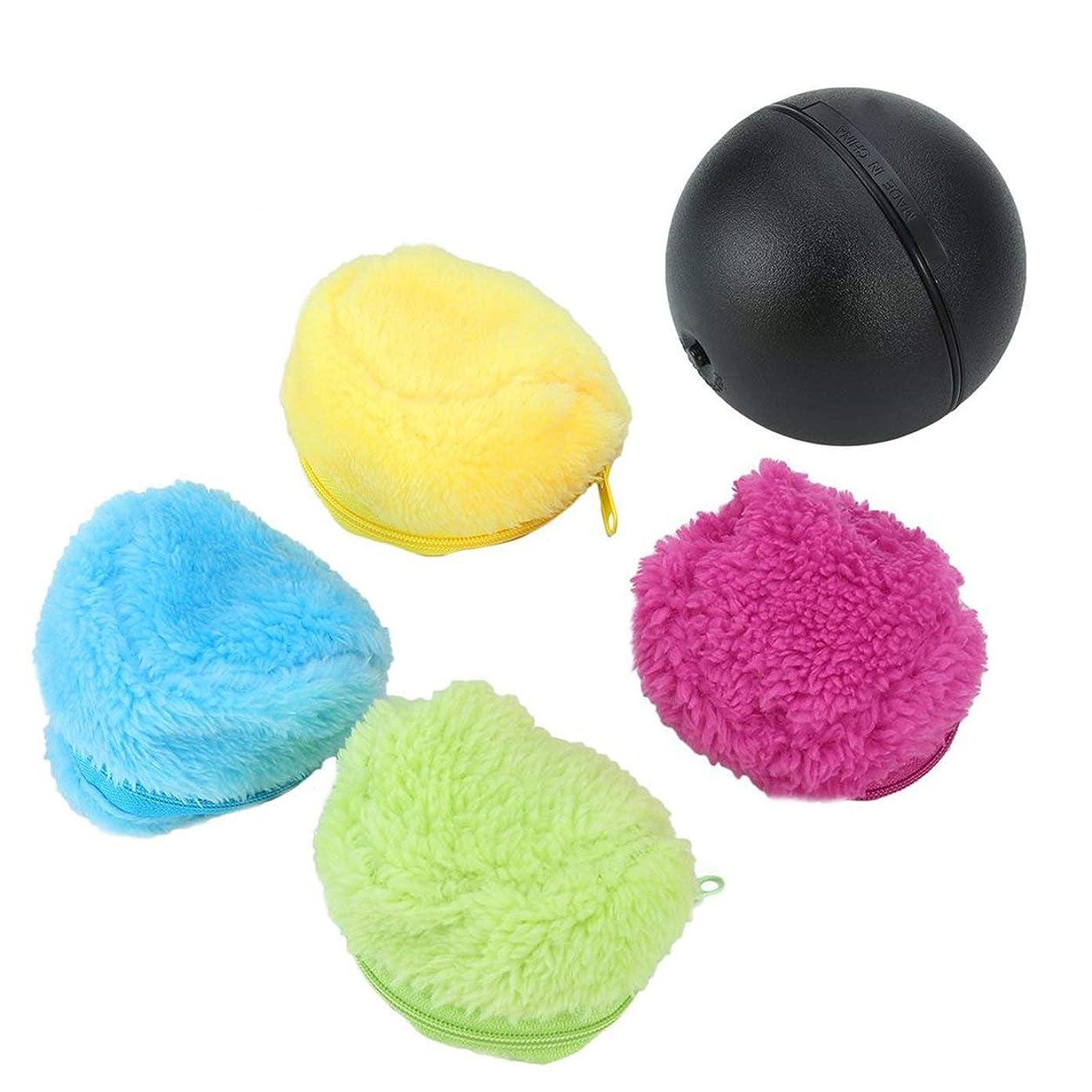 乏しい異常な芸術Saikogoods 自動ローリングボール 電動 ミニ掃くロボット 掃除機 家庭用マイクロファイバーボール 4色