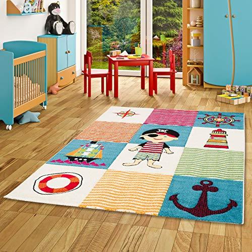 Savona Kinder und Spiel Teppich Kids Piratenwelt Bunt in 5 Größen