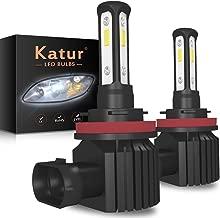 KaTur H8 H9 H11 H16(JP) LED Fog Light Bulbs Headlight Bulbs DRL Extremely Bright Canbus 3570 Chips Max 100W 3000 Lumens Conversion Kit,6000K Xenon White-2 Yrs Warranty