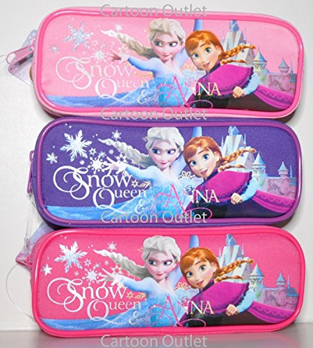 Disney Frozen Pen & Pencil Case - Snow Queen Elsa & Anna Zippered Organizer 1 Piece [Random Color]
