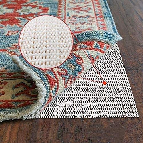 DirectLight Non-Slip Area Rug Pad Gripper Thick Pad for Any Hard Surface Floors, Provides Protection and Cushion for Area Rugs and Floors, Works with All Types of Area Rugs (2' x 5', Cream)