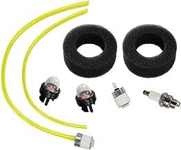 HURI Air Filter Fuel Line Fuel Filter for Bolens BL100 BL150 BL250 Trimmer BL410 Tiiler Cultivator Yard Man Yard Machines YM70SS 2800m Y28 Y725 YM1000 YM1500 YM320BV YM400 120R 121R Trimmer