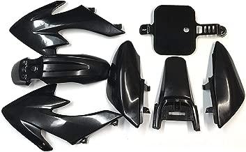 HTTMT XFY- Black Plastic Fender Kit Body Work Fairing Kit Compatible with Honda CRF XR XR50 CRF50 Clone 125CC Pit Dirt Bike
