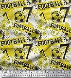 Soimoi Gelb Seide Stoff Pinselstrich und Fußball Männer