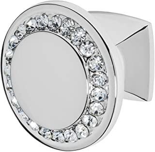Wisdom Stone 4211CH-C Isabel 1-1/4 in. Chrome with Clear Crystals Cabinet Knob, 1-1/4