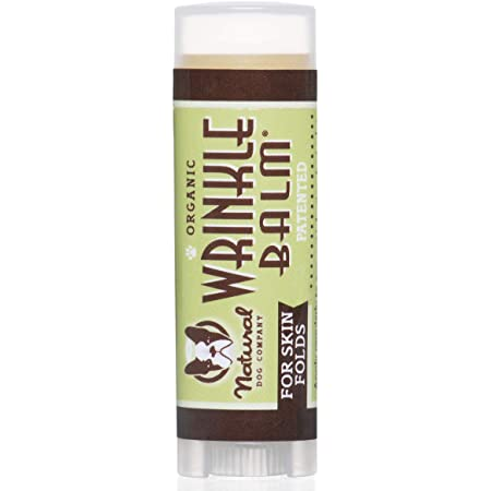 Natural Dog Company Wrinkle Balm Stick, Cleans and Protects Dog Wrinkles and Skin Folds, Perfect for Bulldogs, All Natural, Organic Ingredients