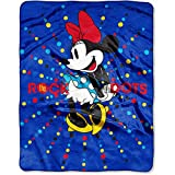 Disney Minnie Mouse 'Rock the Dots' 40' x 50' Silky Soft Throw