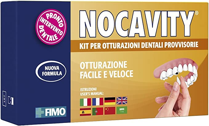 812 opinioni per Nocavity NUOVA FORMULA Kit per Otturazioni Dentali Provvisorie. Isola la cavità