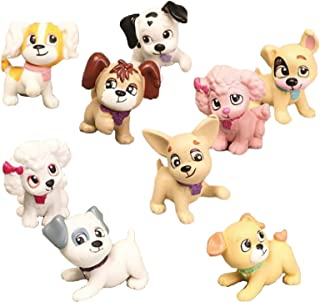 Dog Figurines Playset, 9 Pcs Realistic Detailed Puppy Figures Fairy Garden Miniature Dog Figurines Collection Playset Cake...