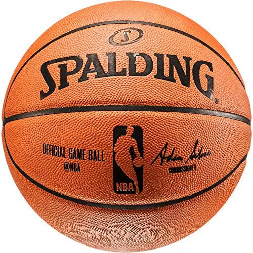 Spalding NBA - Pallone da basket Offical Game Ball (7, arancione)