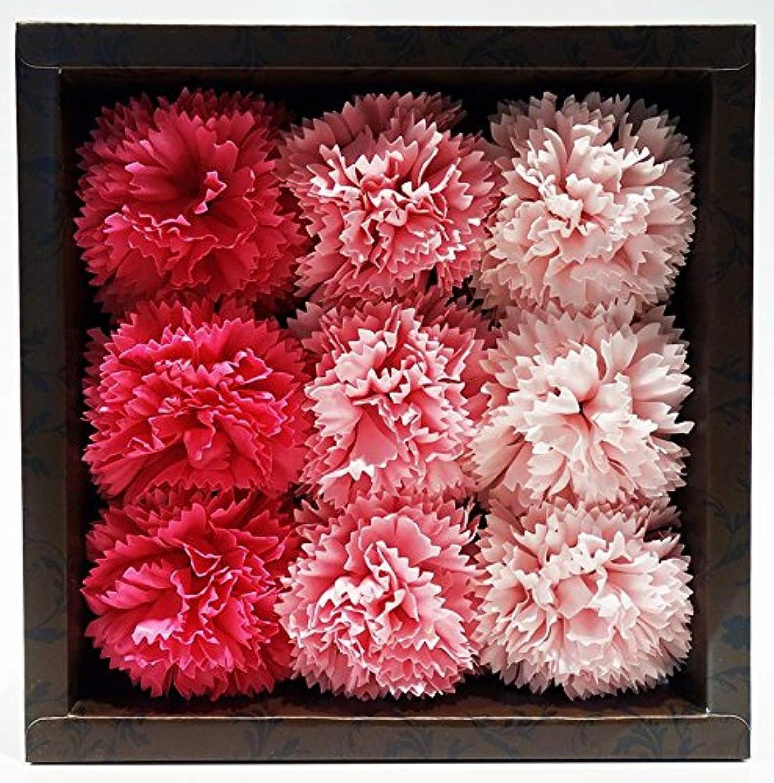 一緒に線謝罪バスフレグランス バスフラワー カーネーション ピンクカラー お花の形の入浴剤 母の日 プレゼント ギフト